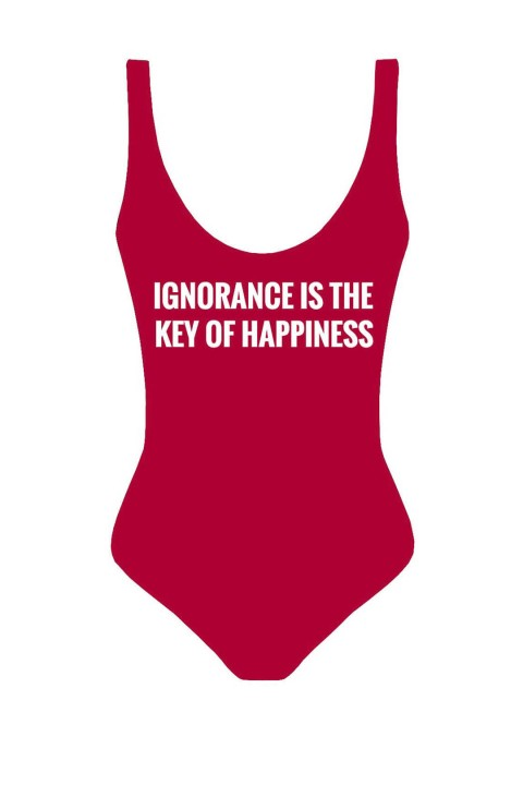 Anais Margaux Paris Beach Motto-Ignorance Is The Key Of Happiness A17IG0501