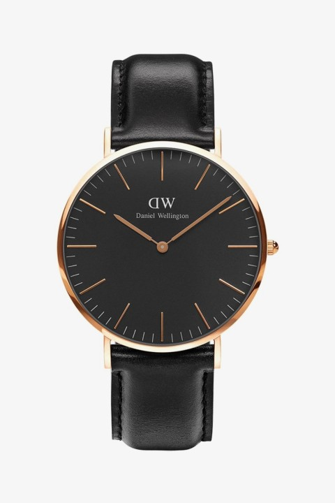 Daniel Wellington Daniel Wellington Men Classic Black Sheffield Rose Gold 40Mm