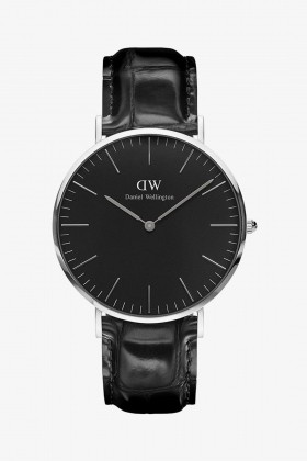 Daniel Wellington - Daniel Wellington Men Classic Black Reading Silver 40Mm