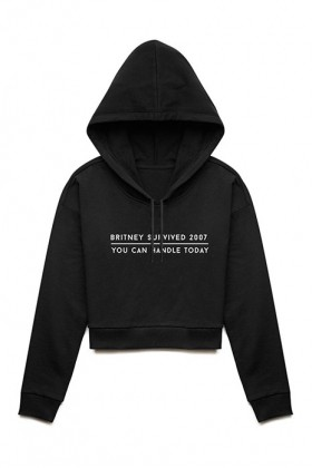 For Fun - Britney Survived 2007, You Can Handle Today / Cropped Hoodie