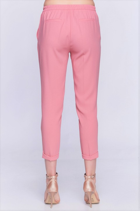 Lidyana Collection Simple Pembe Lastikli Pantolon