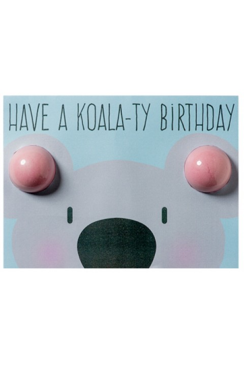 Bomb Cosmetics Koala-ty Birthday Blaster Card