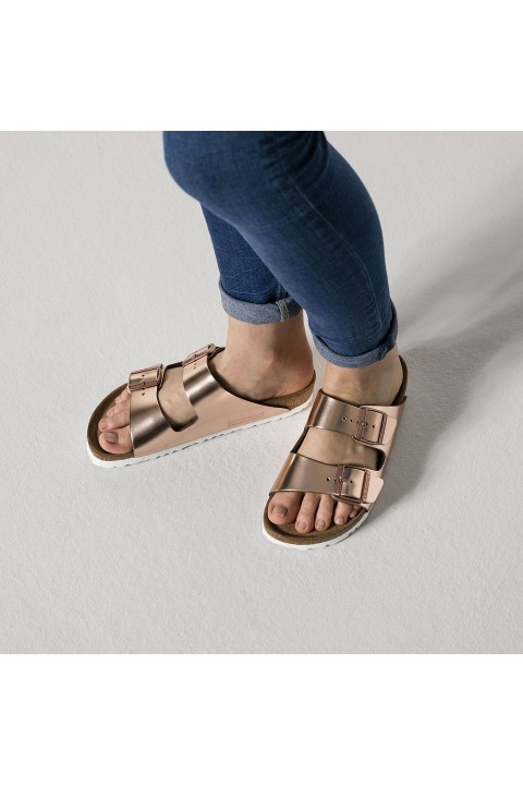 Birkenstock Birkenstock Arizona Soft Footbed Metallic Cooper
