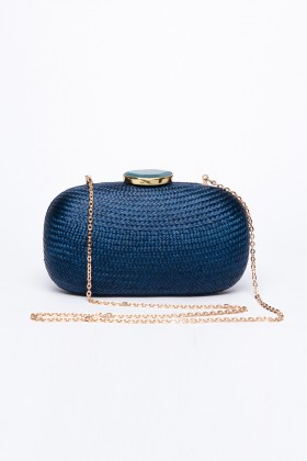 Larone by Bengartisans - Blue Skies Oval clutch