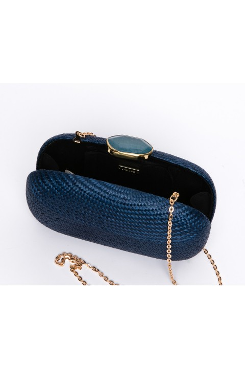 Larone by Bengartisans Blue Skies Oval clutch