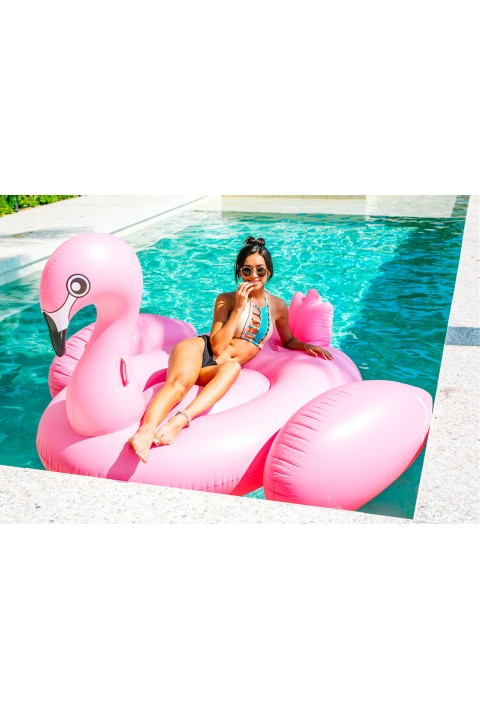 Colorize Pembe Flamingo Float Deniz Yatağı