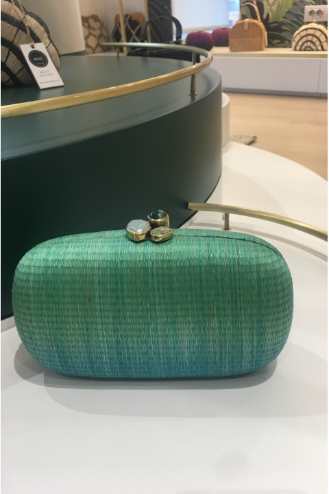 Larone by Bengartisans Teal Blue Oval