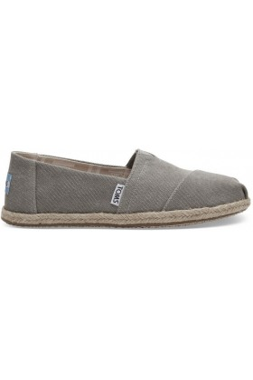 Toms - Drizle Grey Washed Canvas Women Alpargata