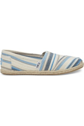 Toms - Blue Aster Woven Stripe Women Alpargata