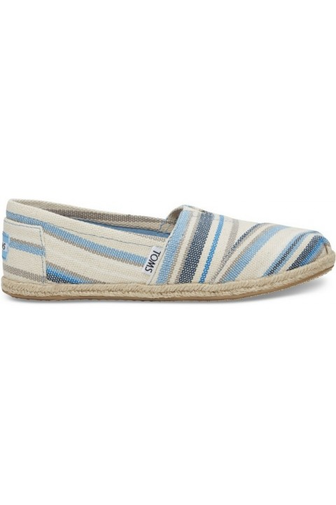 Toms Blue Aster Woven Stripe Women Alpargata