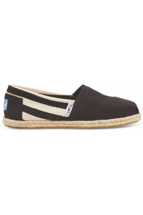 Toms Black Stripe University Women Classic Alpargata