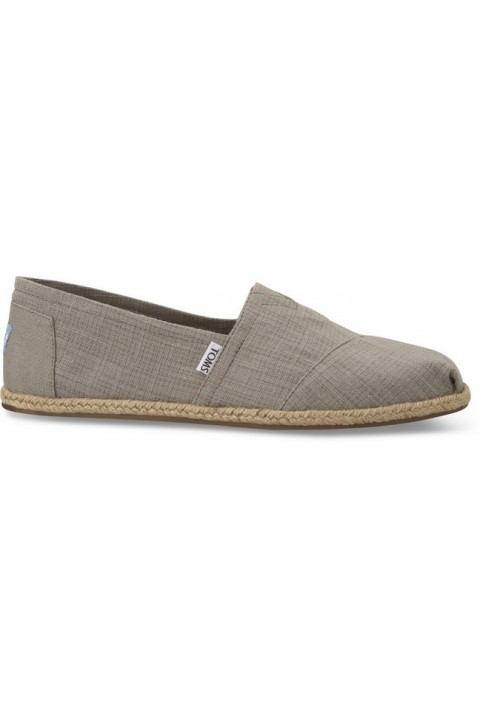 Toms Light Grey Textured Linen Men Alpargata Classic
