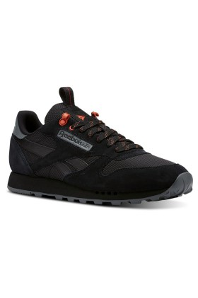 Reebok - Cl Leather Mu Black/Alloy/Carotene