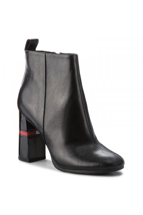 Tommy Hilfiger CRACKLED METALLIC HEELED BOOT