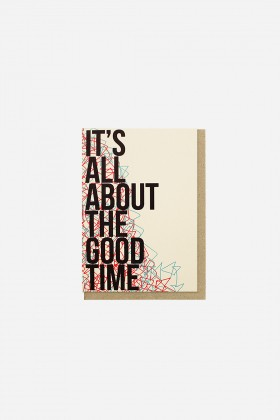 Paper Street Co.  - It's All About the Good Time Kartpostal