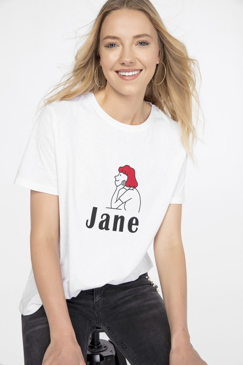 Lidyana Collection Beyaz Jane T-shirt