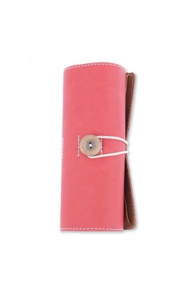 Le Color Leather Roll-Up Red