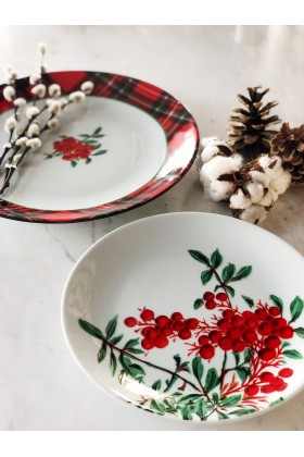 Fern&Co. - Fern&Co 4'lu New Year Red Berry Collection Kucuk Tabak Seti 'Limited Edition'