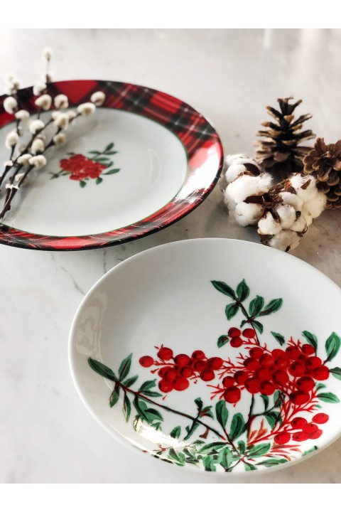Fern&Co. Fern&Co 4'lu New Year Red Berry Collection Kucuk Tabak Seti 'Limited Edition'