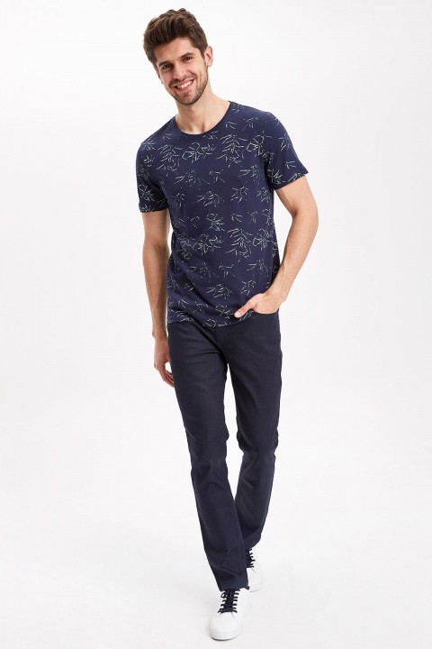 Defacto Slim Fit Desenli T-Shirt
