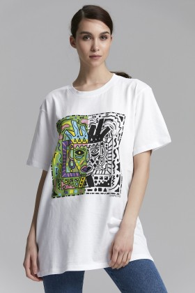 Unspecified - Beyaz Printed T-Shirt