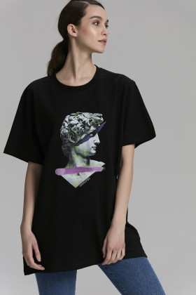 Unspecified - Siyah Printed T-Shirt