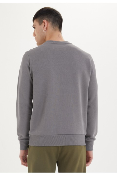 Westmark London Essentials Sweat in Charcoal Grey Gri Sweatshirt