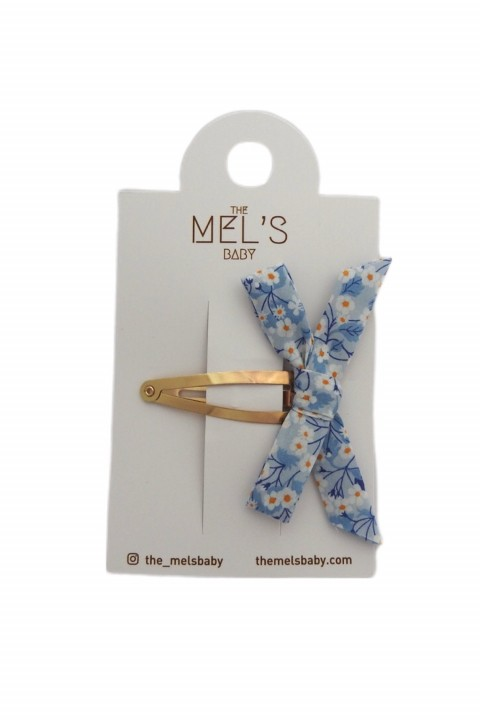 The Mel's Baby Mavi Çiçekli Liberty London Çıt Çıttoka