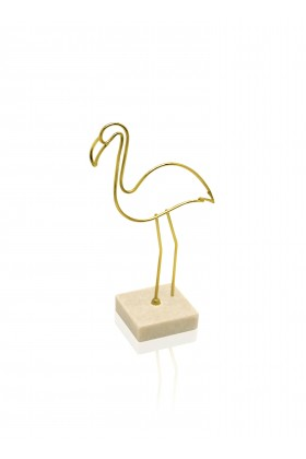 The Mia - Biblo-Metal Flamingo 8.5*5*17 Cm