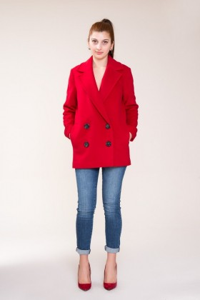 GIZIA - Red Stamp Coat