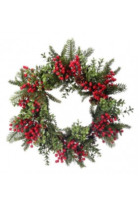 Angelica Wreath - Smile 30 Cm Kapı Süsü
