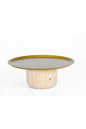 ANANAS  - Ananas Woodworking Sofra Orta Sehpa Gold