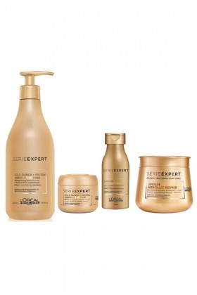 L'Oréal Paris - Loreal Gold Absolut Set (Şampuan 500 ml+ Maske 250 ml+ Şampuan 100 ml+ Maske 75 ml)