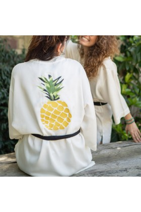 Live Basic - Yellow Pine Apple Live Basic Kimono