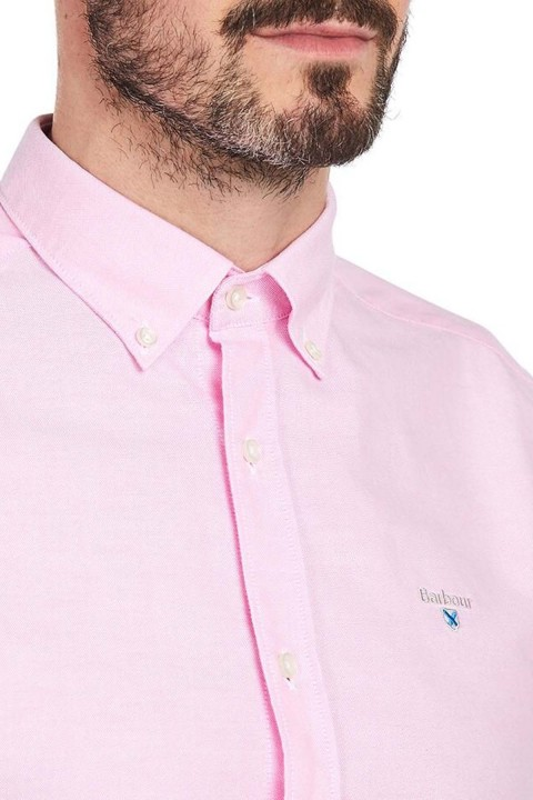 Barbour Barbour Oxford 3 Tailored Fit Shirt Pink