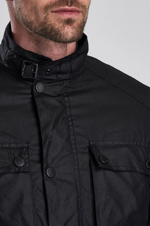 Barbour International B.Intl Blackwell Wax Jacket  Black