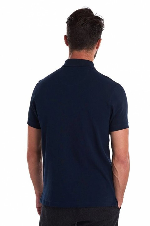 Barbour Barbour Tartan Pique Polo Shirt  Navy