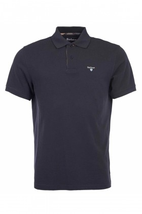 Barbour - Barbour Tartan Pique Polo Shirt  Navy-Dress