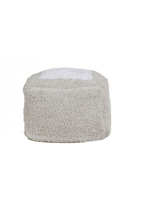Lorena Canals Puf, Marshmallow Square Pearl Grey