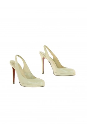 Original Seconds - Christian Louboutin Krem Ayakkabı