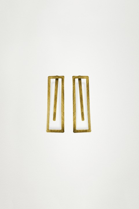 Unadorned Jewelry Design Gold The Maze Küpe