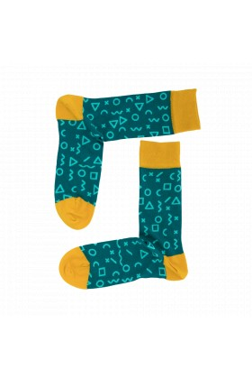 One Two Sock - Fragments Green
