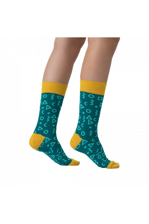 One Two Sock Fragments Green