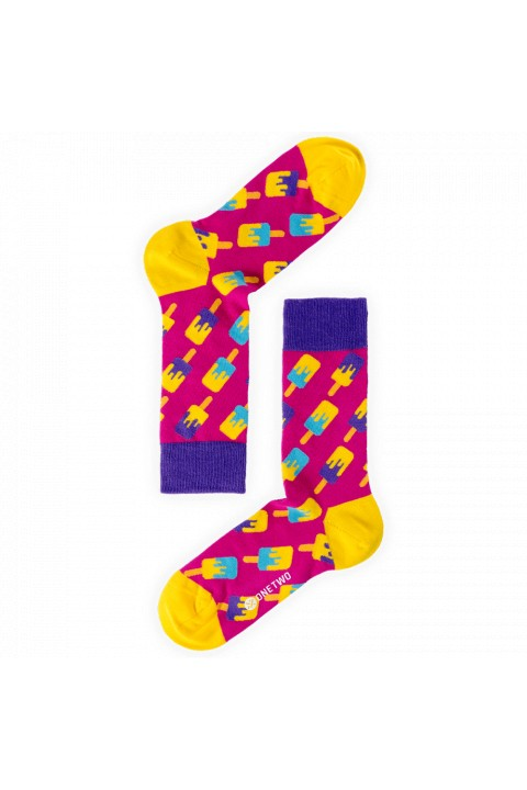 One Two Sock Ice Pop Berry