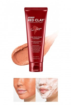 Missha - MISSHA Amazon Red Clay Pore Pack Foam Cleanser