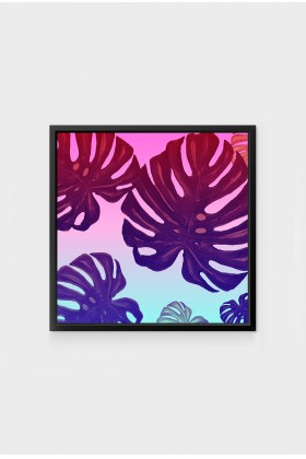 Action Zebra - Monstera Rainbow 40x50 cm Poster