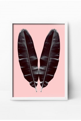 Action Zebra - Pink Twin 21x30 cm Poster
