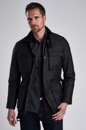 Barbour International - B.Intl Blackwell Yağlı Ceket BK71 Black