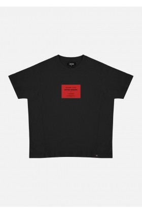 For Fun - Crying Session Siyah Oversize T-Shirt