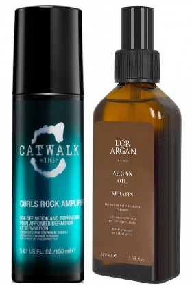 Tigi - Tigi Catwalk Curls Rock Amplifier 150ml + Lor Argan Milano Keratin Bakım Yağı 100ml